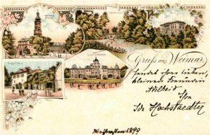 AK / Ansichtskarte Weimar Thueringen Schloss Belvedere Residenz Schloss Sternbruecke Goethe Schiller Archiv  Kat. Weimar