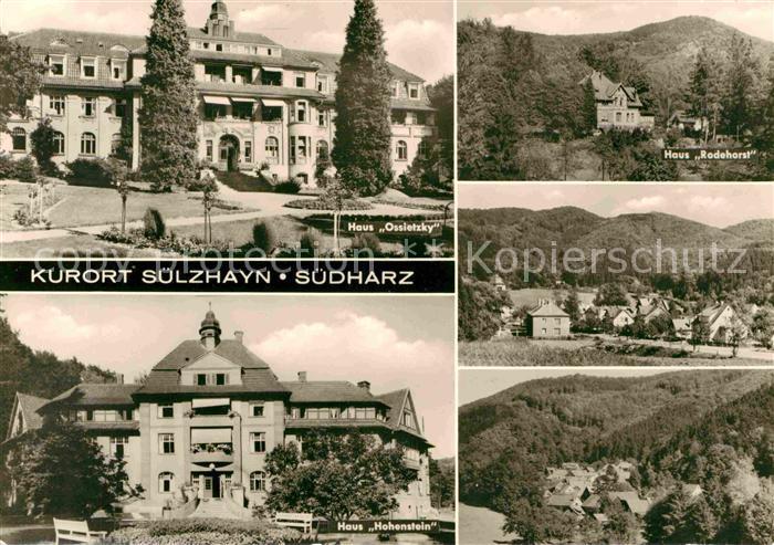 AK / Ansichtskarte Suelzhayn Haus Ossietzky Haus Rodehorst Haus Hohenstein Landschaftspanorama Kurort Kat. Ellrich