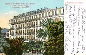 AK / Ansichtskarte Nice Alpes Maritimes Grand Hotel d Angleterre Kat. Nice