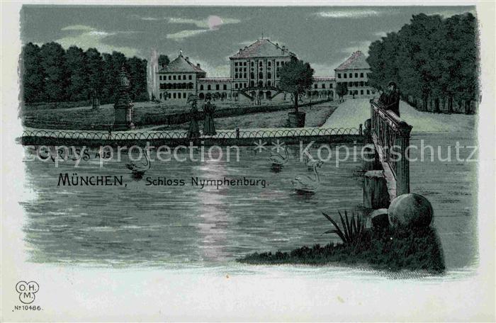 AK / Ansichtskarte Muenchen Schloss Nymphenburg  Kat. Muenchen