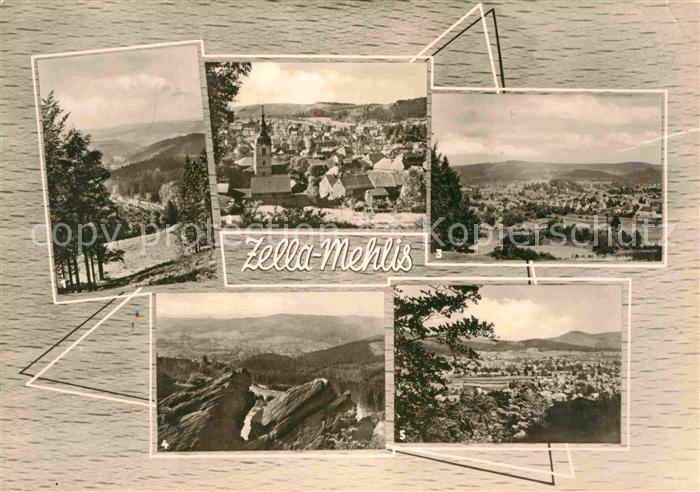 AK / Ansichtskarte Zella Mehlis Blicke vom Restaurant Veilchenbrunnen Ringweg Kaltenbrunner STeine Schwarzen Kopf Kat. Zella Mehlis