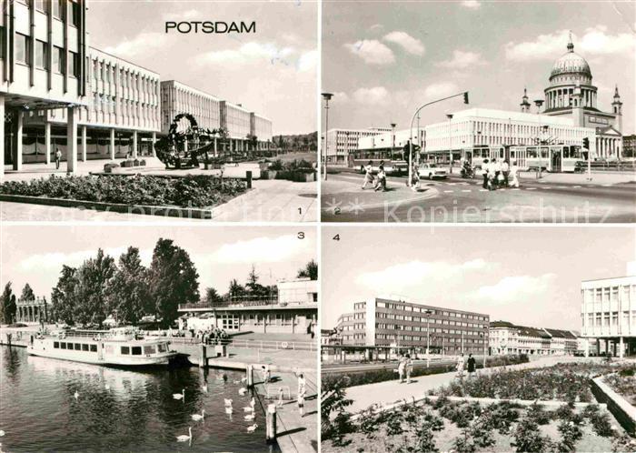 AK / Ansichtskarte Potsdam Friedrich Ebert Strasse Platz der Einheit Anlegestelle der Weissen Flotte Kat. Potsdam