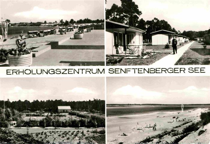 AK / Ansichtskarte Senftenberg Niederlausitz Erholungszentrum Senftenberger See Strand Promenade Bungalows Kat. Senftenberg