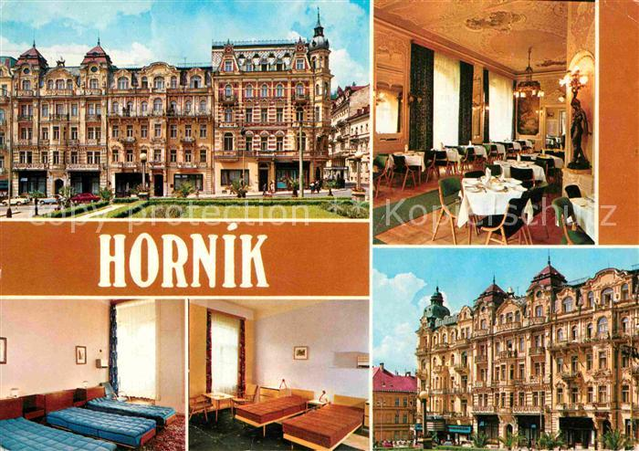 AK / Ansichtskarte Marianske Lazne Zotavovna ROH Hornik Restaurant Hotel Kat. Marienbad