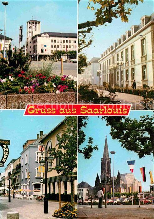 AK / Ansichtskarte Saarlouis Platz Kirche  Kat. Saarlouis