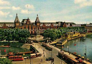 AK / Ansichtskarte Bahnhof Amsterdam Centraal Station  Kat. Eisenbahn