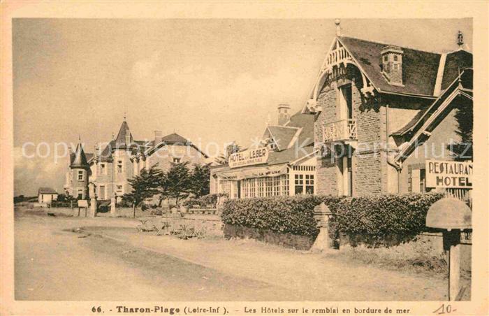 AK / Ansichtskarte Tharon Plage Hotels sur le remblai en bordure de mer Kat. Saint Michel Chef Chef