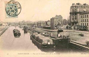 AK / Ansichtskarte Saint Denis Seine Saint Denis Vue sur le Canal prise de la Passerelle