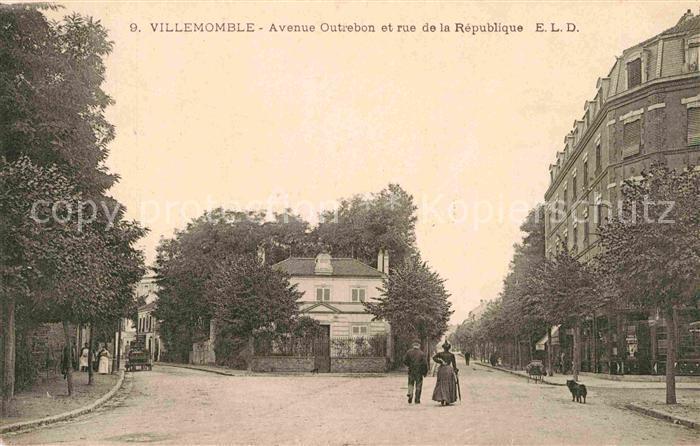 AK / Ansichtskarte Villemomble Avenue Outrebon et rue de la Republique Kat. Villemomble