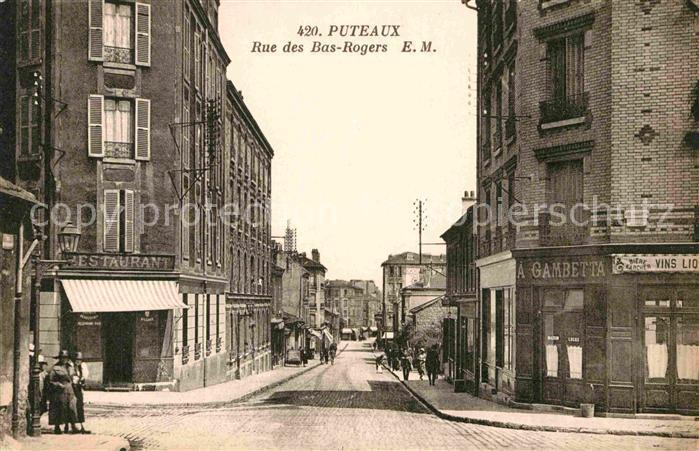 AK / Ansichtskarte Puteaux Rue des Bas Rogers Kat. Puteaux