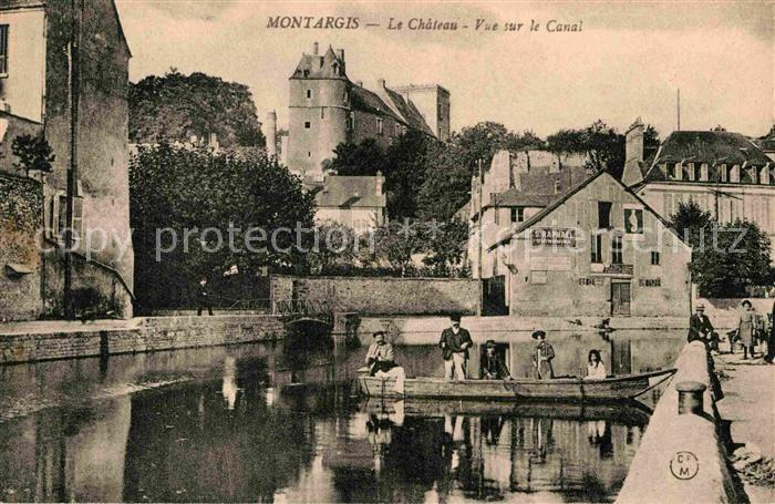 AK / Ansichtskarte Montargis Loiret Le Chateau Vue sur le Canal Kat. Montargis