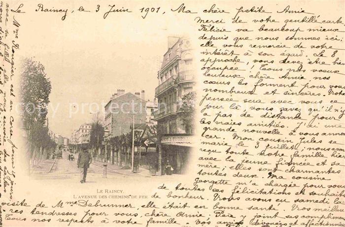 AK / Ansichtskarte Le Raincy Avenue des Chemins de Fer Kat. Le Raincy