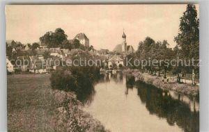 AK / Ansichtskarte Burgau Burgau Kirche Ortsansicht  Kat. Burgau