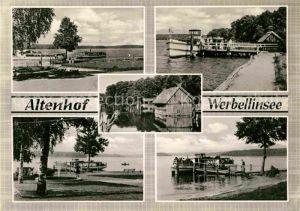 AK / Ansichtskarte Altenhof Werbellinsee Seepartien Anlegestelle