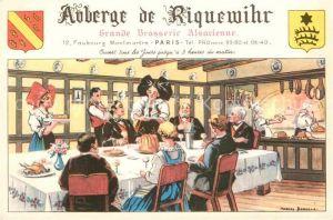 AK / Ansichtskarte Paris Auberge de Riquewihr Grande Brasserie Alsacienne Illustration Kat. Paris