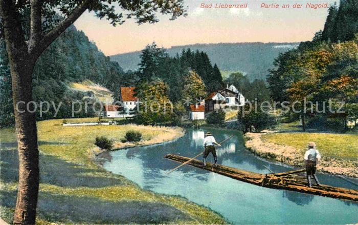 AK / Ansichtskarte Bad Liebenzell Nagoldpartie Kat. Bad Liebenzell