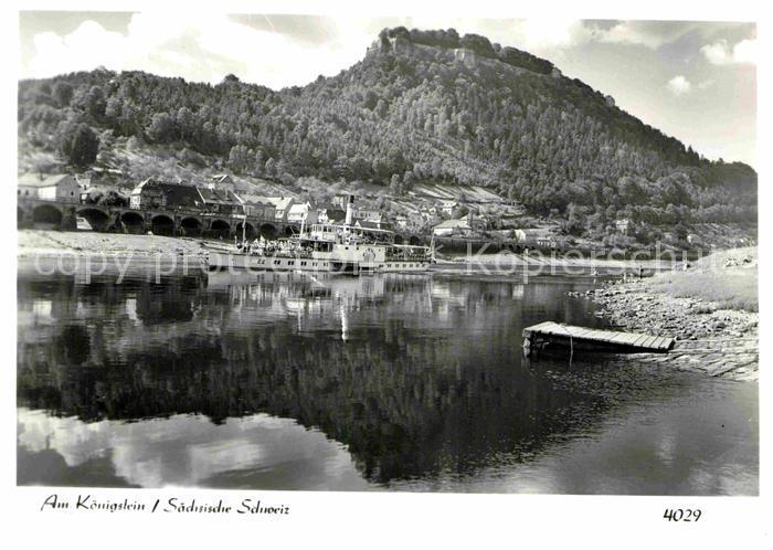 AK / Ansichtskarte Koenigstein Saechsische Schweiz Foto Hering Nr. 4029 Kat. Koenigstein Saechsische Schweiz