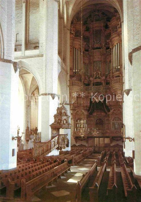 AK / Ansichtskarte Kirchenorgel St. Marienkirche Rostock  Kat. Musik