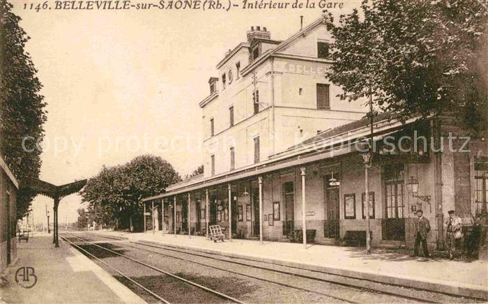 AK / Ansichtskarte Belleville sur Saone Interieur de la Gare