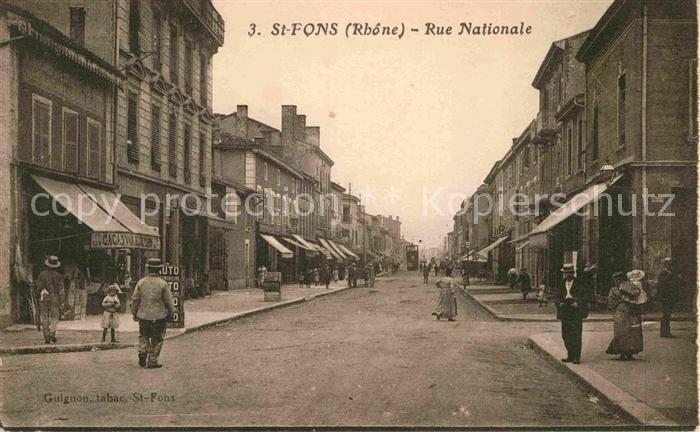 AK / Ansichtskarte Saint Fons Rue Nationale Kat. Saint Fons