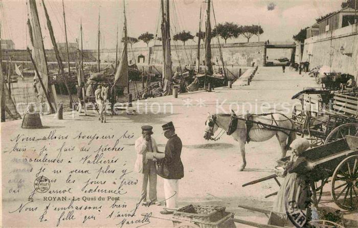 AK / Ansichtskarte Royan Charente Maritime Le Quai du Pont Kat. Poitiers Charentes