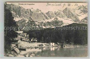 AK / Ansichtskarte Garmisch Partenkirchen Eibsee Zugspitze Kat. Garmisch Partenkirchen
