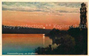 AK / Ansichtskarte Greifensee Sonnenuntergang Kat. Greifensee