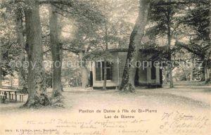 AK / Ansichtskarte Bienne Biel Pavillon de Danse a Ile de St Pierre  Kat. Bienne