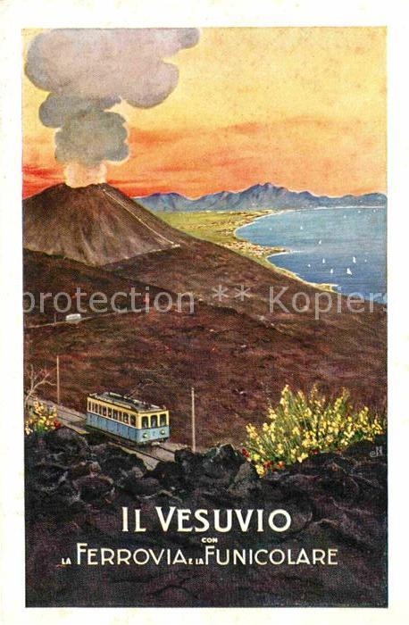 AK / Ansichtskarte Vesuvio Ferrovia Funicolare Kuenstlerkarte  Kat. Napoli