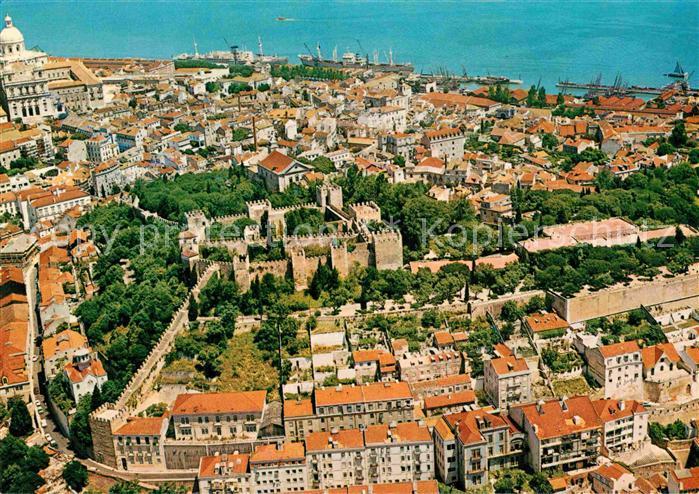 AK / Ansichtskarte Lisboa Castelo de San Jorge e Alfama Schloss Altstadt Kat. Portugal