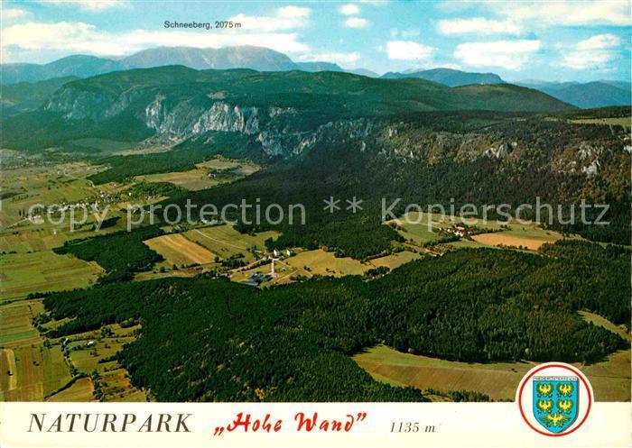 AK / Ansichtskarte Stollhof Hohe Wand Naturpark Hohe Wand Fliegeraufnahme Kat. Hohe Wand Niederoesterreich