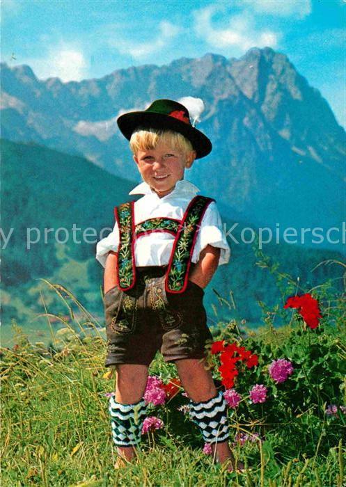 AK / Ansichtskarte Kinder Child Enfants Tracht Lederhose Werdenfelser Land Kat. Kinder