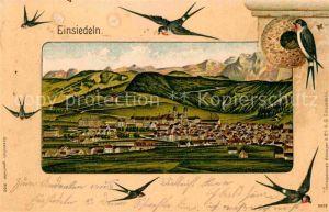 AK / Ansichtskarte Einsiedeln SZ Orstansicht Schwalbe Kat. Einsiedeln