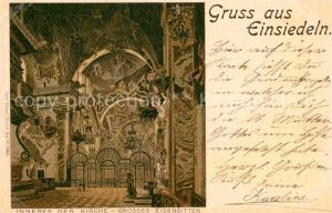 AK / Ansichtskarte Einsiedeln SZ Inneres der Kirche Grosses Eisengitter  Kat. Einsiedeln