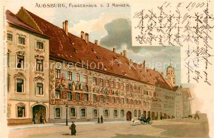 AK / Ansichtskarte Augsburg Fuggerhaus Drei Mohren Kat. Augsburg
