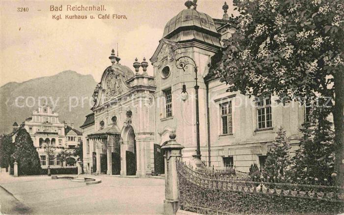AK / Ansichtskarte Bad Reichenhall Kgl Kurhaus und Cafe Flora Kat. Bad Reichenhall