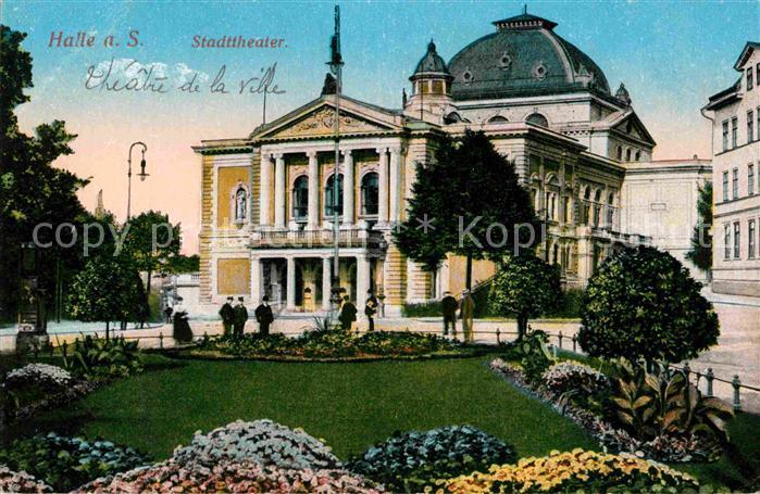 AK / Ansichtskarte Halle Saale Stadttheater Kat. Halle