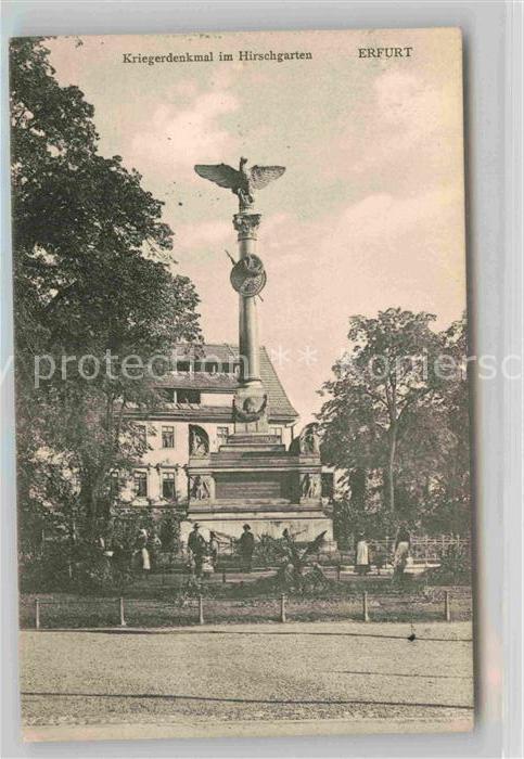 AK / Ansichtskarte Erfurt Kriegerdenkmal Hirschgarten Kat. Erfurt