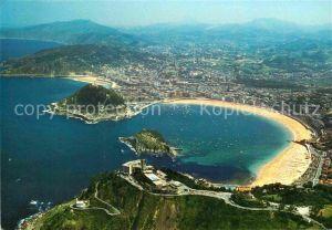 AK / Ansichtskarte San Sebastian Guipuzcoa Monte Igueldo Costa vista aerea