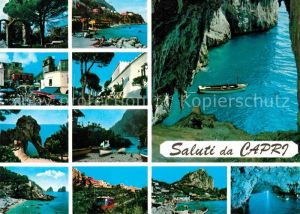 AK / Ansichtskarte Capri Teilansichten der Insel Kueste Felsen Bucht Grotte Kat. Golfo di Napoli