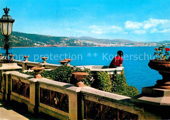 AK / Ansichtskarte Trieste Parco di Miramare veduta del golfo dalla ...