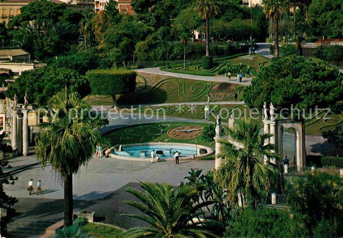 AK / Ansichtskarte Catania Giardino Bellini vasca dei cigni Garten Schwanenteich Kat. Catania