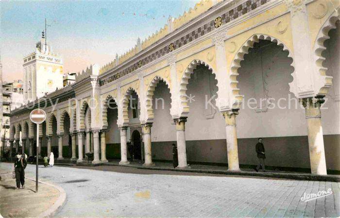 AK / Ansichtskarte Alger Algerien Rue de la Marine Mosquee Djama El Kebir