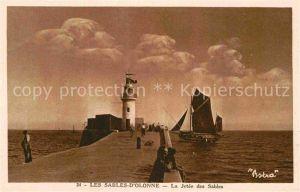 AK / Ansichtskarte Les Sables d Olonne La Jetee des Sables Kat. Les Sables d Olonne