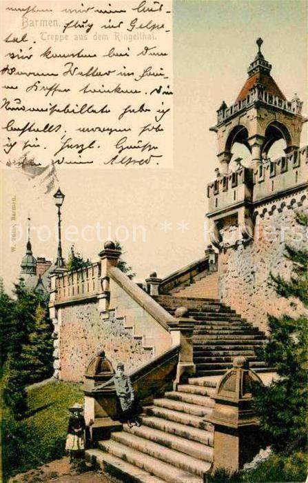 AK / Ansichtskarte Barmen Wuppertal Treppe aus dem Ringeltal Kat. Wuppertal