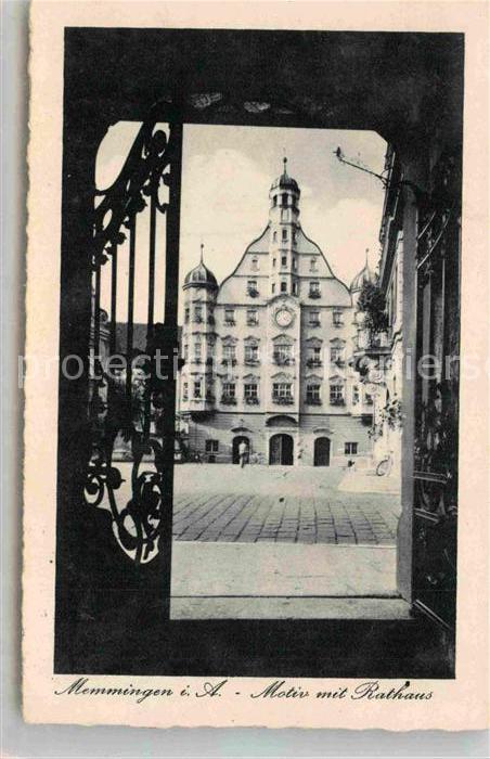 AK / Ansichtskarte Memmingen Rathaus Kat. Memmingen
