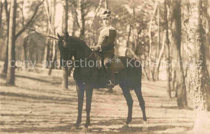 AK / Ansichtskarte Potsdam Soldat zu Pferd Kat. Potsdam