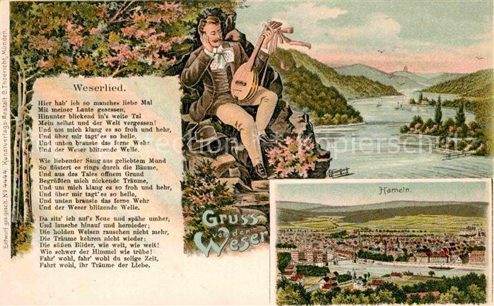 AK / Ansichtskarte Hameln Weserlied Kat. Hameln