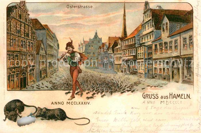 AK / Ansichtskarte Hameln Osterstrasse Kat. Hameln