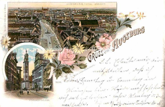 AK / Ansichtskarte Augsburg Perlachturm  Kat. Augsburg